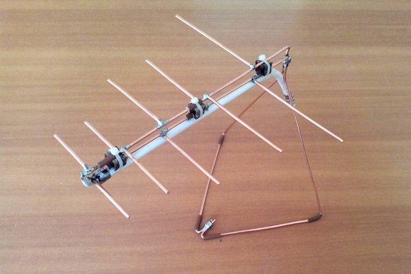 Zelfgemaakte antenne voor T2