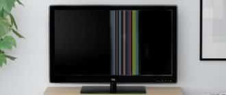 Полосы на экране телевизора